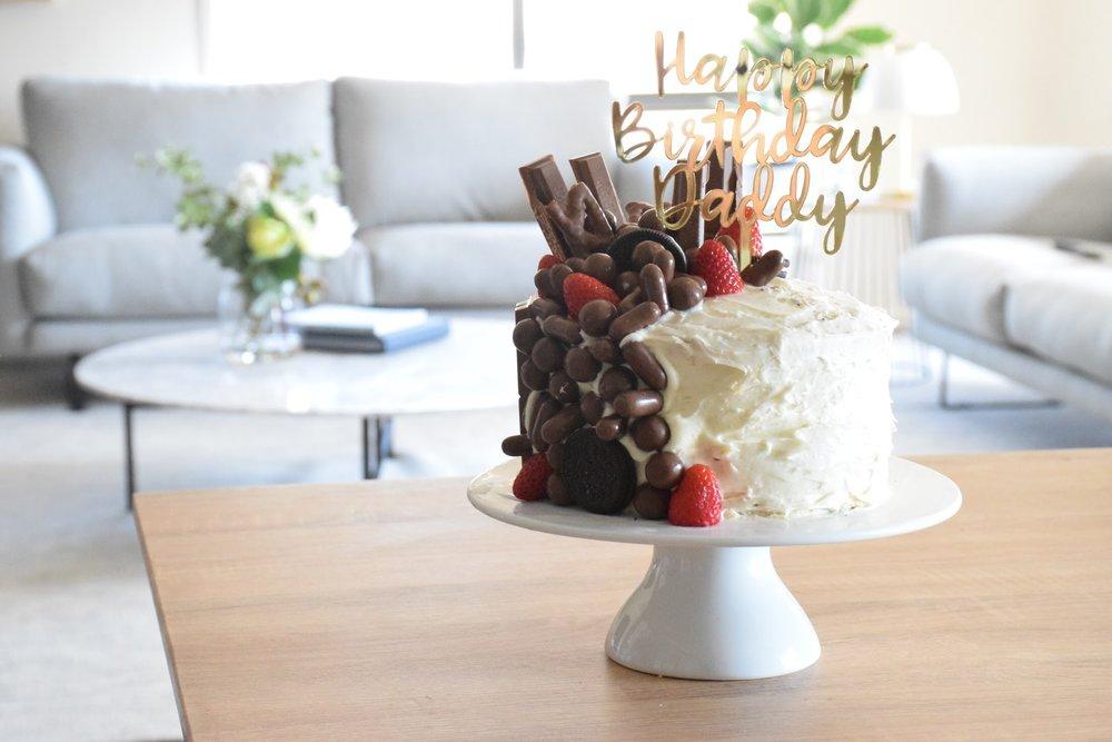 Happy Birthday Daddy Cake Topper
