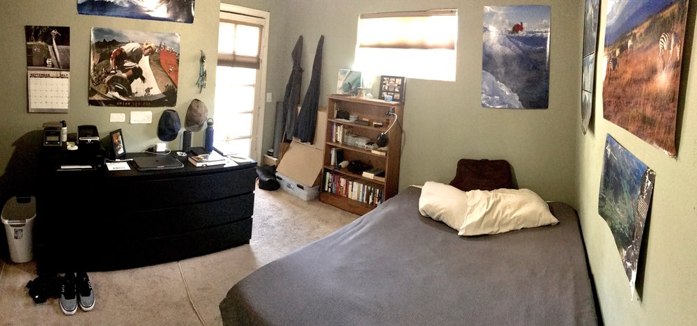The office bedroom - except for additional inventory, TrickTape is run entirely through what's on/in that black dresser.