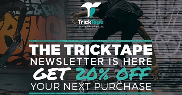 Sign up for our newsletter OR now thru Monday enter promo code KICKFLIP2018 for 20% off all purchases! Happy shreddin'