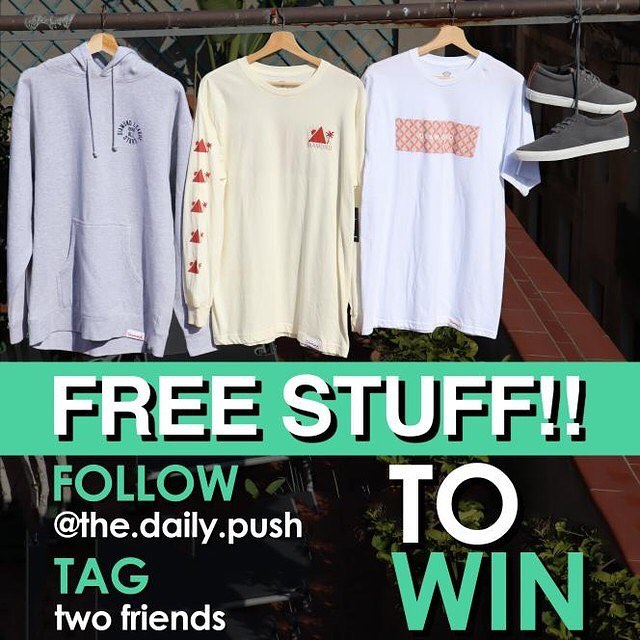 Our friends over at @the.daily.push are doing a giveaway! Very simple follow if you aren't already, and tag some friends. The Daily Push puts out great content for keeping your body healthy and in prime skating condition, they've got a pre-sesh warm-up routine I've been doing for about a year now and it's definitely made for better skating and recovery for the next day. Check em out!
