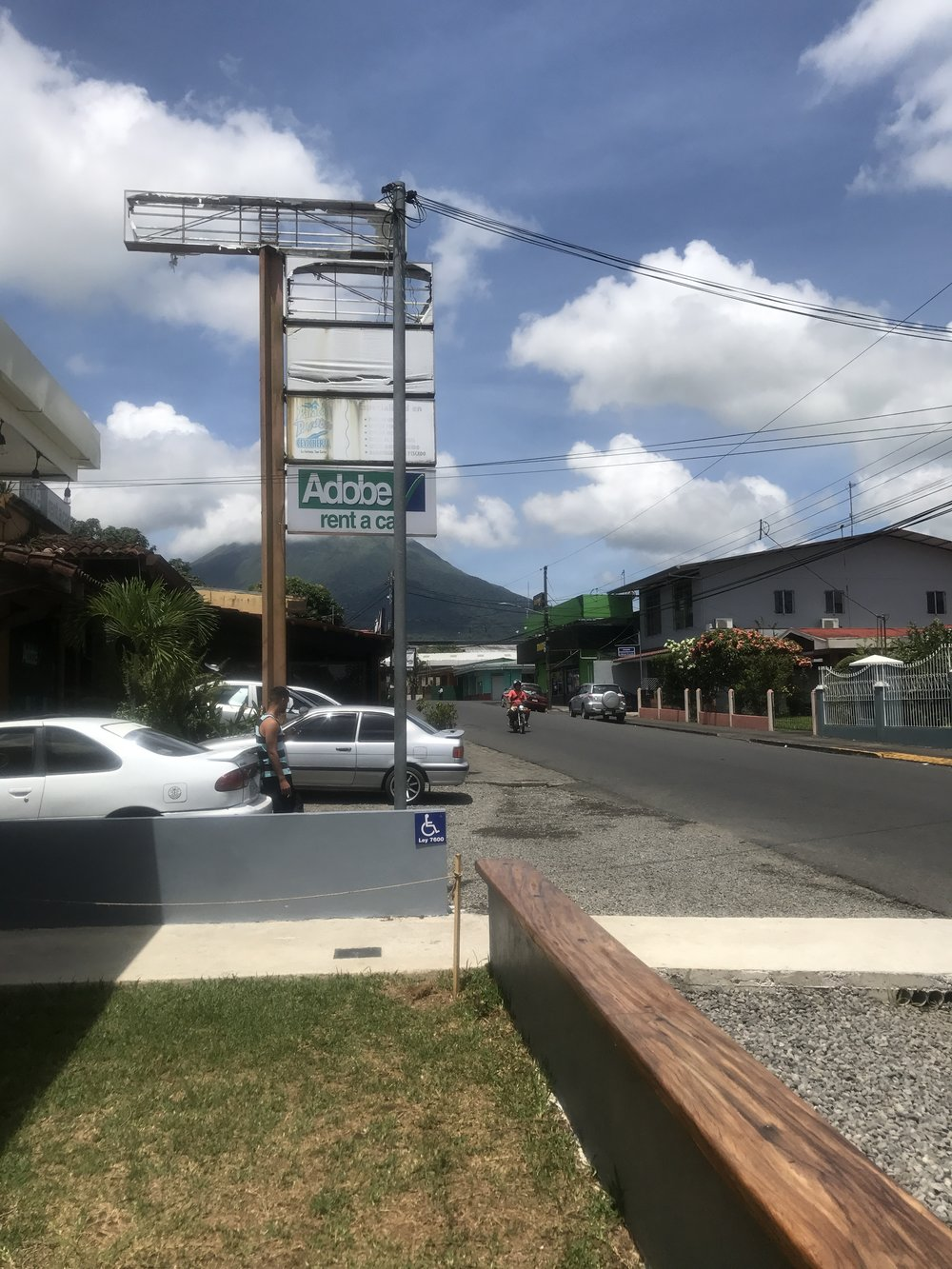 View of Arenal from outside Selina