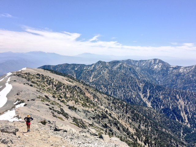 Mt Baldy: - 1.Bear Canyon, Peak, 3T's, Cucamonga.2.Manker Flats, Register Ridge, Peak, North Backbone,Pine &Dawson &the PCT &back 3.Register Ridge,Peak &down Ski Hut or Devils backbone &down the ski lifts from the Notch.