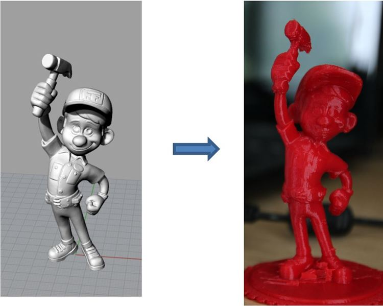 3D scan data to 3D printed object