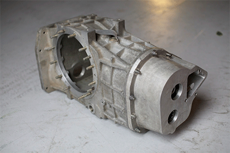 The gearbox casing selected by Brian Coombs to house the new gearbox for his Ford GT40 replica.