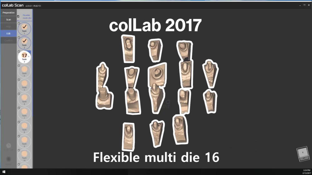Flexible multi die 16
