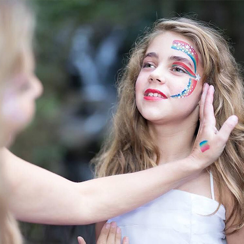 Face Painting Girl Rainbow