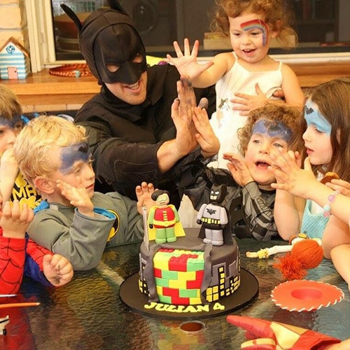 Kids party characters at birthday party