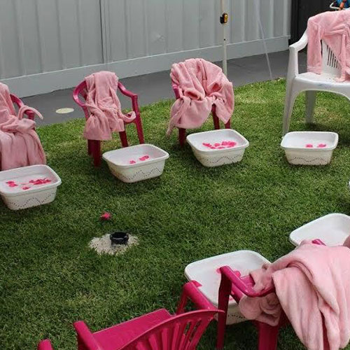 Pamper Party Setup for Kids