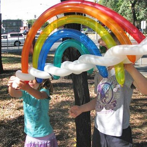 Rainbow Balloon Twisting for Kids