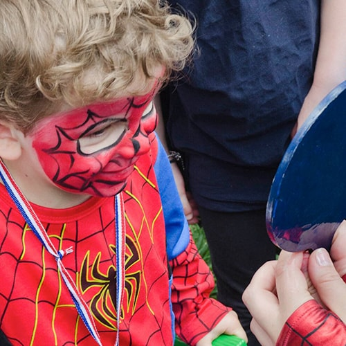 Cool Spidy Kids Face Painting