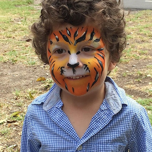 Face Painting Like Lion