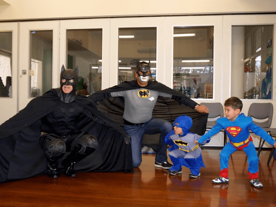 US AKP Party Pics (H) - Batman and Batdad and little superheros.png