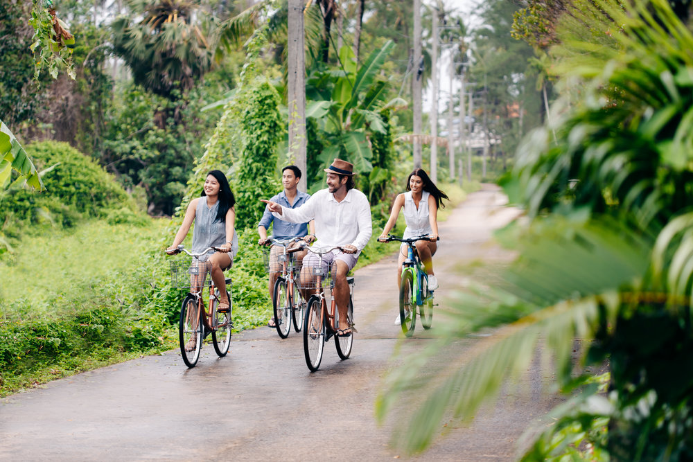 Explore Natai Beach and the surrounding area on our complimentary bikes.