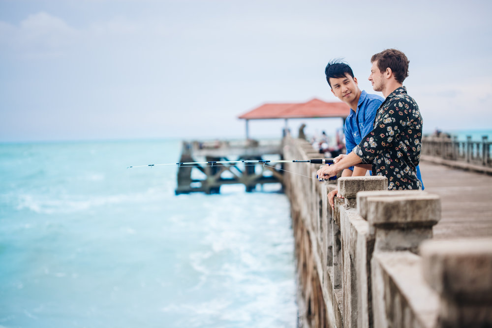 Hone your angling skills on Natai Pier with our complimentary fishing gear.