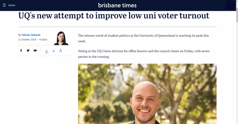 Read the Brisbane Times article  here