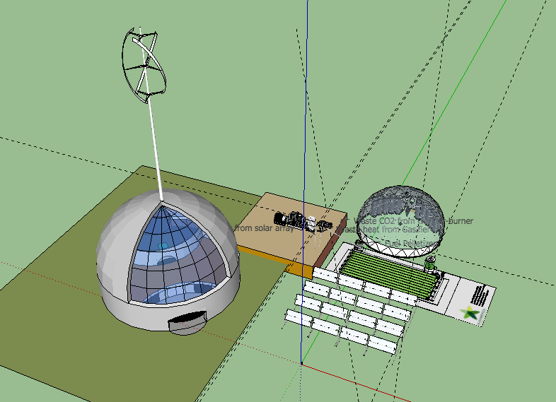 Unfortunately I lost the sketchup file for this model but the components are described below