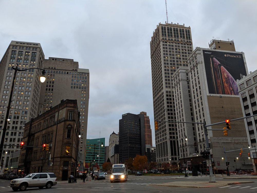 an image of downtown detroit