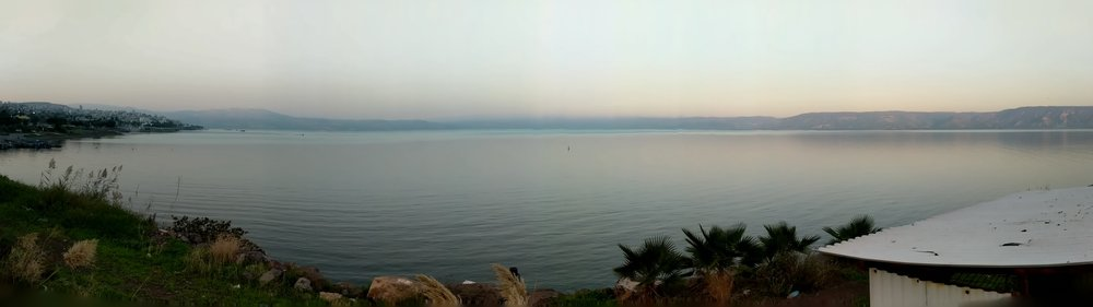 Panorama view of The Sea of Galilee