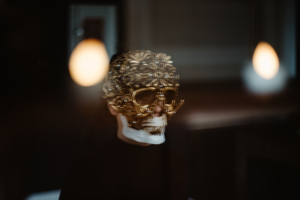Still from Wunderkammer series. Venetian Death Mask - given by my father for the exhibition 'Wunderkammer' after the death of my mother in 2015