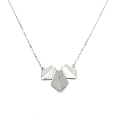 Origami Necklace Triple Kate Mclaughlin Jewellery