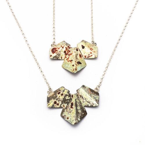 Origami Necklace Triple Kate Mclaughlin Jewellery