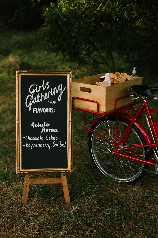 Icicle Tricycle Custom Chalkboard Menu