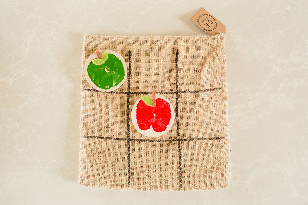 GK example - Apple print blocks with felt features