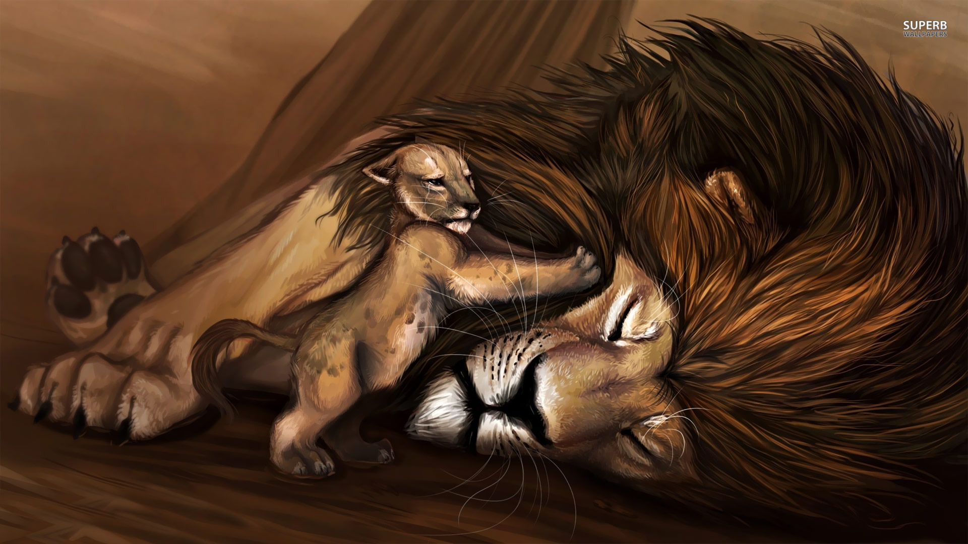 cub-waking-up-lion