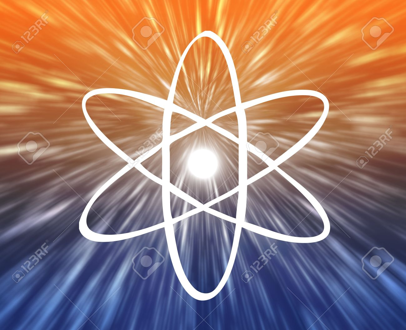 6165126-Atomic-nuclear-symbol-scientific-illustration-of-orbiting-atom-Stock-Illustration