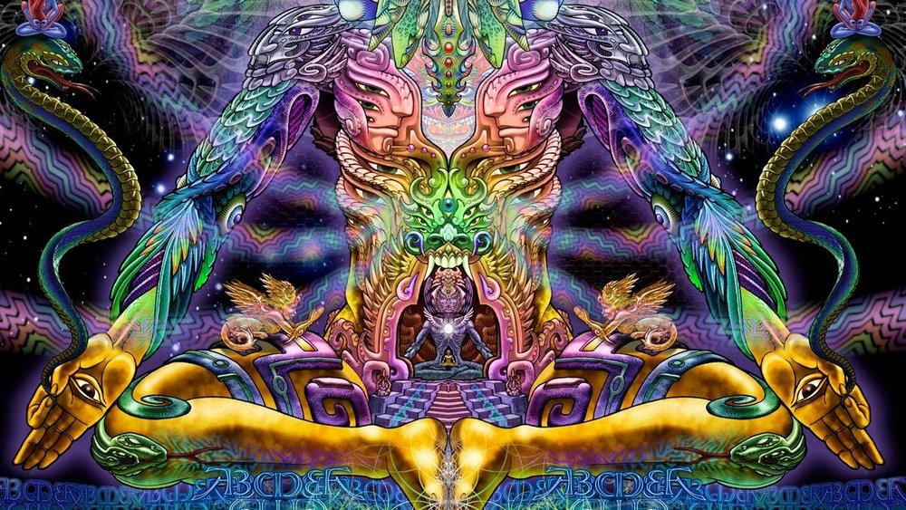 Meditating higher being