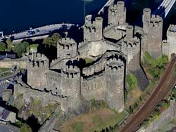 aerial photograph of Conwy  Castle