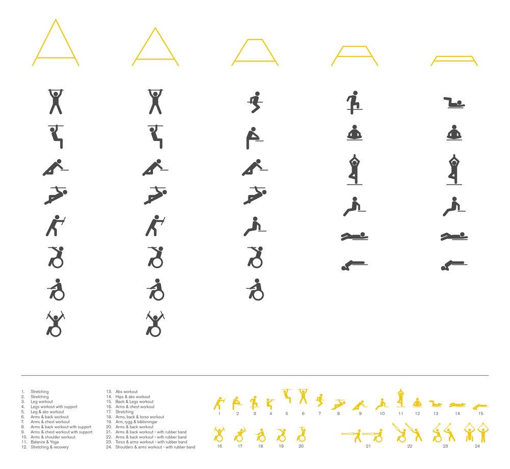 Graphics - Kebne Outdoor Gym by Nola, design Kauppi & Kauppi