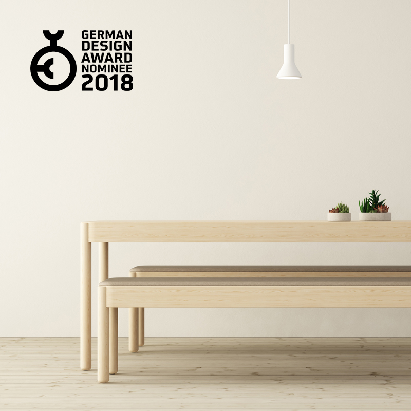 Wakufuru tables and benches by Glimakra of Sweden, design Johan Kauppi