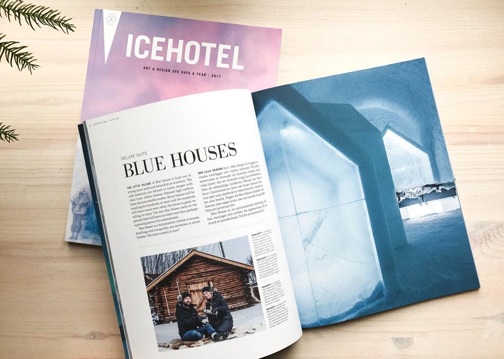 Icehotel Magazine 2017, Suite Blue Houses by Kauppi & Kauppi