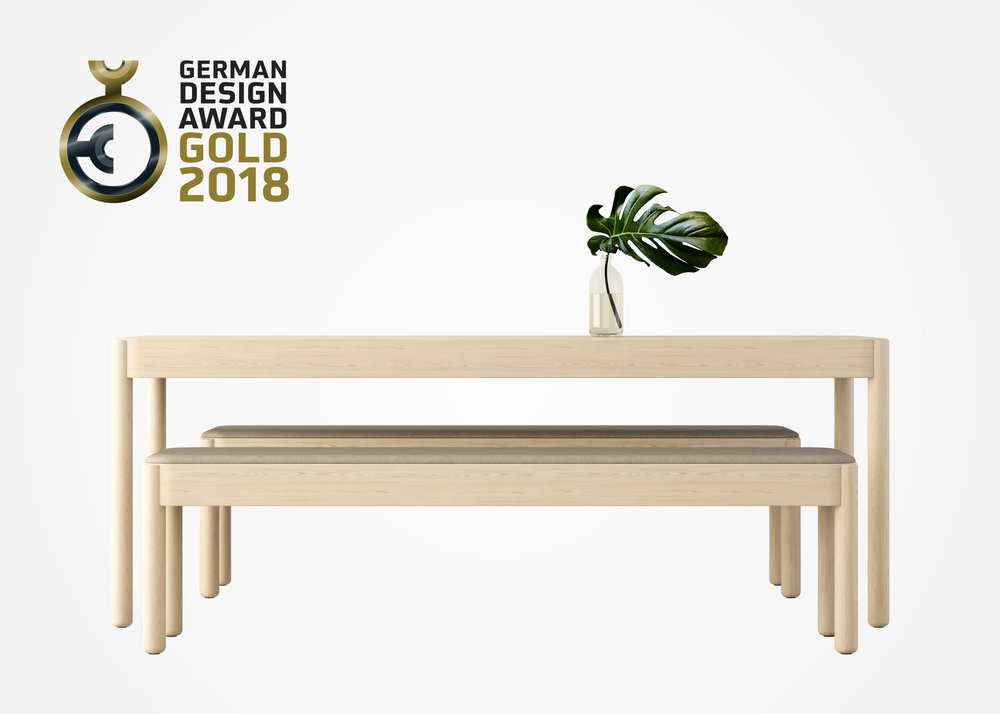 Wakufuru by Glimakra of Sweden, design Johan Kauppi. Gold winner, German Design Award 2018.