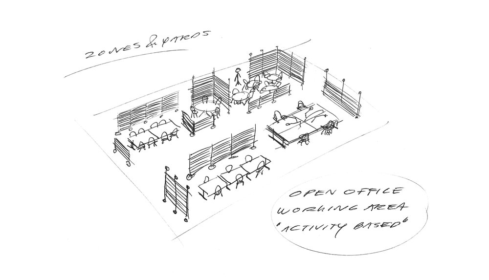 Designers first sketch - The Barn & Fences - Johan Kauppi