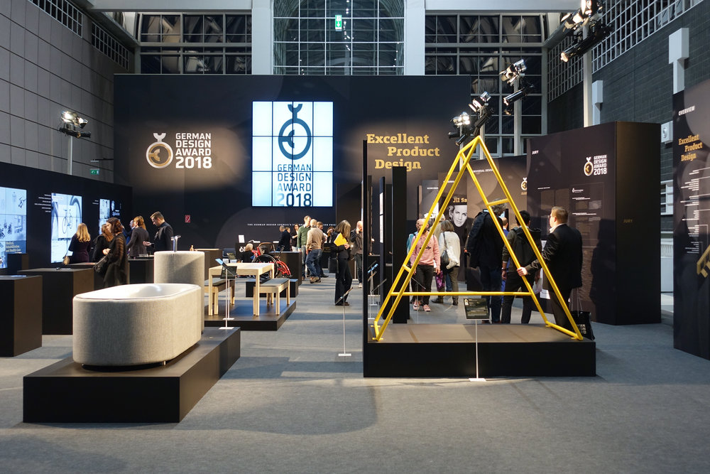 The award ceremony took place on February the 9th 2018 at the Ambiente Fair in Frankfurt am Main. The Gold Award winning products in the section of Excellent Product Design were exhibited at the fair in the Galerie Nord.