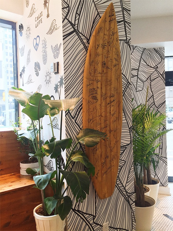 The famous Surf Board that celebrities sign.