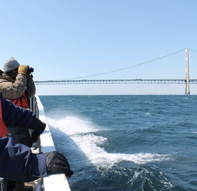 """It is simply reckless and irresponsible to operate Line 5 under the current weather conditions in the Straits of Mackinac,"" Senator Peters said."