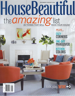 HOUSE BEAUTIFUL, JANUARY 2014