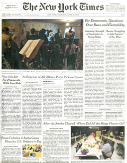 NEW YORK TIMES, APRIL 2008