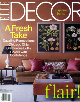 ELLE DECOR, MARCH 2005