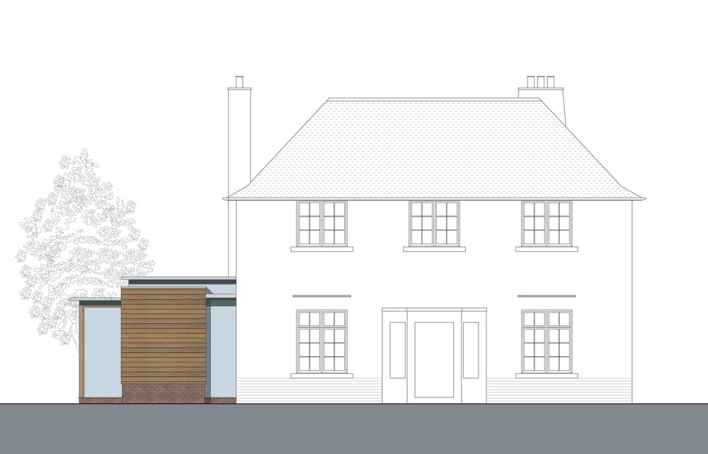 David Blaikie Architects_Whitehouse Road Elevation