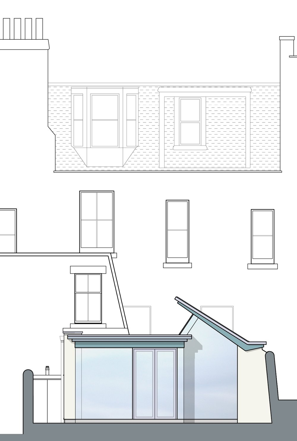 David Blaikie Architects_Garscube Terrace Elevation