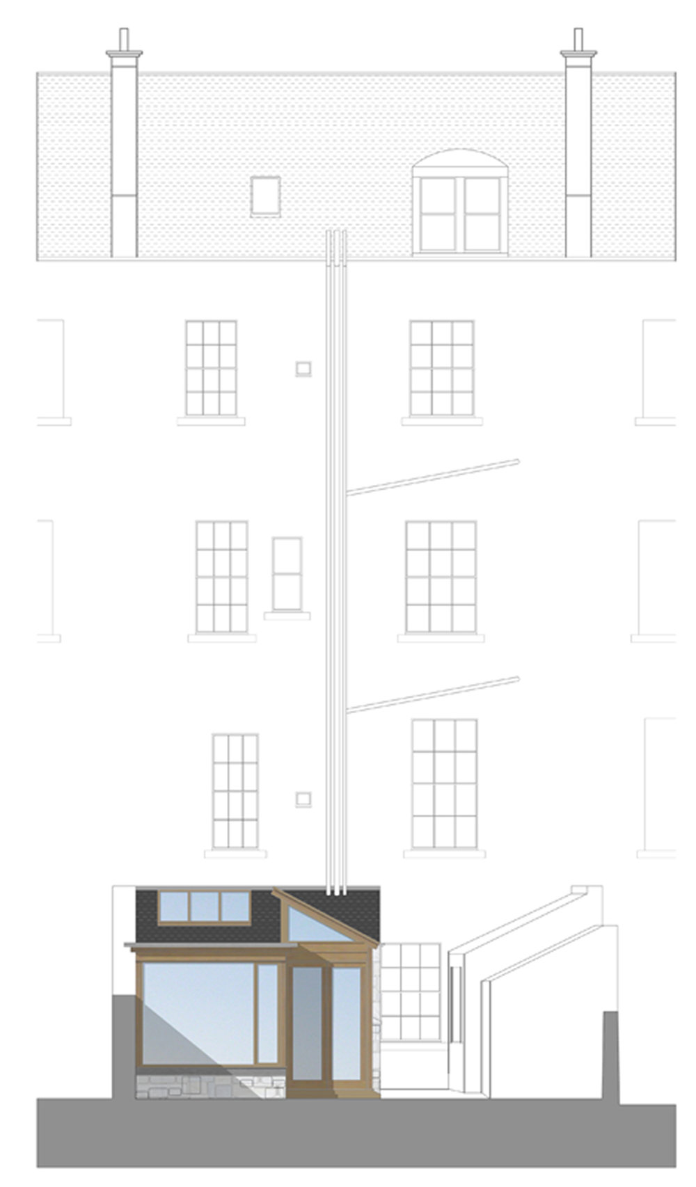 David Blaikie Architects_Clarendon Crescent Elevation