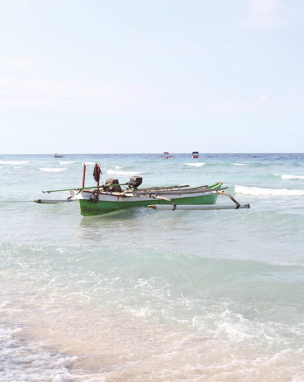 Boat, Gili Islands - Hannah Gabrielle More Travel Photography