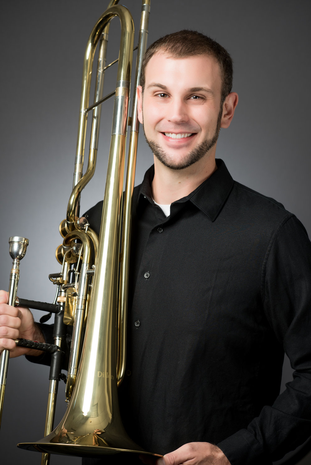 """Eric Henson - Currently residing in Inman South Carolina, Bass Trombonist Eric Henson holds degrees from Western Carolina University, the University of Maryland, College Park, and is currently pursuing his Doctorate of Musical Arts at the University of South Carolina. As an educator, Henson is in demand as a clinician and teacher from Delaware to Georgia. Motivated by a strong desire to cultivate music in young people, he joined the faculty of Limestone College in 2011 and has rapidly grown the low brass studio in both quantity and quality. Ensembles under his direction have given performances at the 2016 International Tuba Euphonium Conference, the 2017 South Carolina Music Educator's Conference, and the 2017 Great American Brass Band Festival. His students have won positions in various military bands, summer festivals, and high school honor ensembles in Maryland, North Carolina, and South Carolina.Henson is an active performer across the Southeast and holds principal positions in the Augusta Symphony, the Spartanburg Philharmonic Orchestra, and the newly formed Rock Hill Symphony. From 2008 to 2015, he held the position of bass trombonist with The King's Brass and can be heard on many of their recent recordings on the Summit Records label. Additionally, he has performed on several occasions with the Atlanta Symphony Orchestra, Charlotte Symphony, and the North Carolina Symphony Orchestra. As a soloist, he was the grand prize winner in the 2017 International Women's Brass Conference solo competition and gave the world premier of Ryan Williams' work """"It Seemed Like a Good Idea at the Time"""" at the 2018 International Trombone Festival. In January 2019, Henson has accepted an invitation to perform on the faculty showcase recital at the Big 12 Trombone Conference at Texas Tech UniversityMr. Henson is an S.E. Shires Performing Artist.A complete CV is available here"""