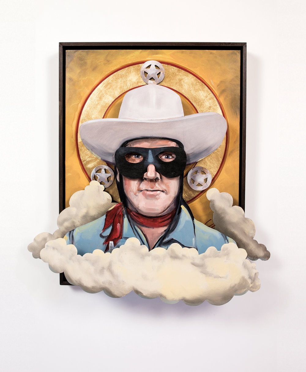 All of my Heroes Have Been Cowboys: Portrait of Clayton Moore as the Lone Ranger