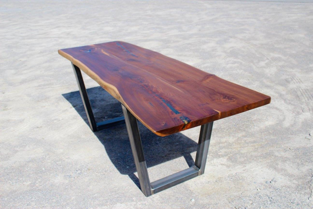 This story is another many many years in the making. This Walnut came from a neighbouring farmer. The Walnut came from a fallen tree originally on their property Markham ON. He had it milled with aspirations to one day build something. We were happy to give this walnut a second life as a beautiful dinning table.