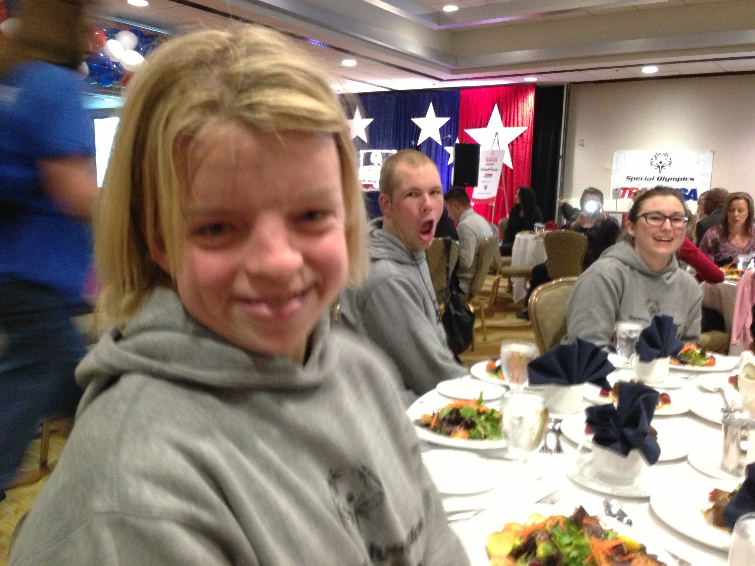 Daina Shilts, 22, of Neillsville, Wis., Special Olympics snowboarder